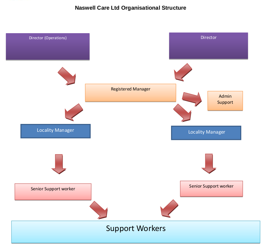 Naswell Care LTD Organisational Structure